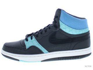 【US10.5】NIKE COURT FORCE HIGH PREMIUM 314429-002 black/black-turquoise