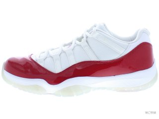 【US10.5】AIR JORDAN 11 RETRO LOW 528895-102 white/varsity red-black