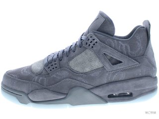 【US9.5】AIR JORDAN 4 RETRO KAWS 930155-003 cool grey/white
