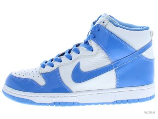 【US8】NIKE DUNK HIGH 630383-141 wht/corolina blue