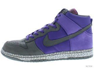 【US8】NIKE DUNK HIGH PREMIUM 306968-501 varsity purple/newsprint-myth