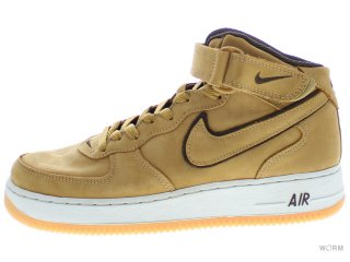 【US8】NIKE AIR FORCE 1 MID WP 307105-771 wheat/wheat-baroque br-lt bone