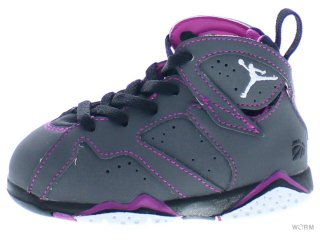 【12cm】AIR JORDAN 7 RETRO GT 705418-016 dark grey/white-blck-fchs flsh