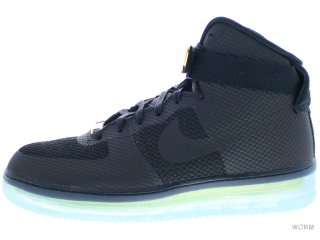 【US9.5】NIKE AIR FORCE 1 CMFT LUX 748280-001 black/black-metallic gold