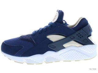 【US10】NIKE AIR HUARACHE 318429-410 midnight navy/rattan-obsdn-wht