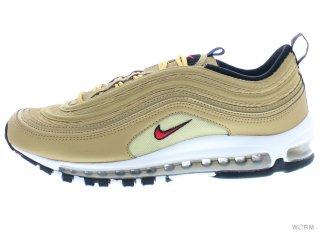 【US10】NIKE AIR MAX 97 OG QS 884421-700 metallic gold/varsity red
