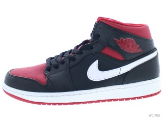 【US9.5】AIR JORDAN 1 MID 554724-020 black/gym red-white