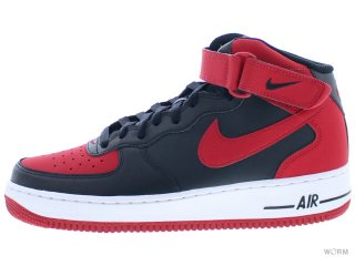 【US9】NIKE AIR FORCE 1 MID '07 315123-029 black/gym red-white