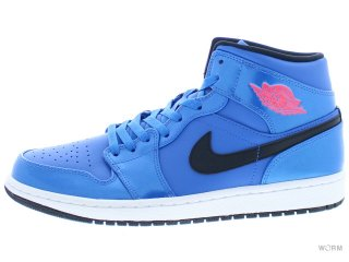 【US10.5】AIR JORDAN 1 MID 554724-423 sport blue/infrared 23