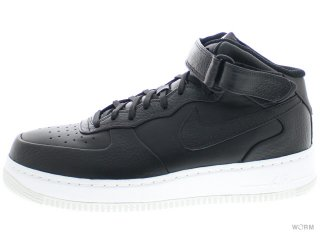 【US10】NIKE AIR FORCE 1 MID CMFT SP 718153-008 black/black-team orange