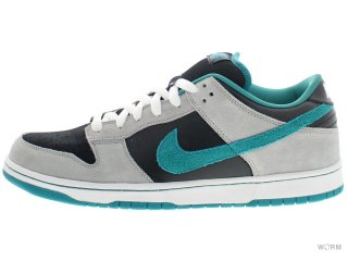 【US12】NIKE SB DUNK LOW PRO SB 304292-012 black/radiant emerald-mdm grey