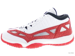 【US11】AIR JORDAN 11 RETRO LOW IE 919712-101 white/gym red-black
