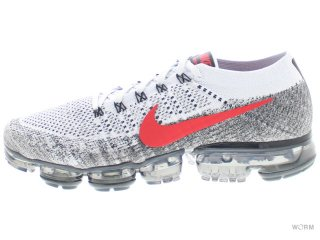 【US10.5】NIKE AIR VAPORMAX FLYKNIT 849558-020 pure platinum/university red
