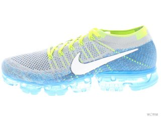 【US10.5】NIKE AIR VAPORMAX FLYKNIT 849558-022 wolf grey/white-chlorine blue