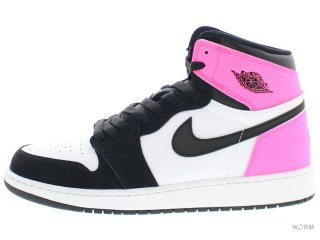 【US5Y】AIR JORDAN 1 RETRO HIGH OG GG 881426-009 black/black-hyper pink-white