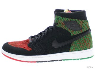 【US11】AIR JORDAN 1 RE HI FLYKNIT BHM aa2426-026 black/black-pine green