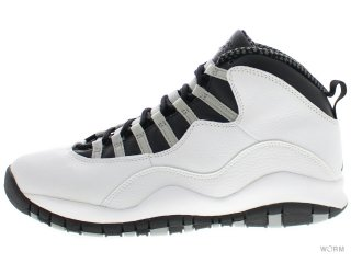 【US10】AIR JORDAN 10 RETRO 310805-101 white/black-lt stl gry-v red