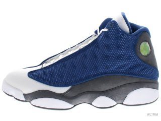 【US9.5】AIR JORDAN 13 RETRO 414571-401 frnch bl/unvrsty bl-flnt gry-w
