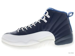 AIR JORDAN 12 RETRO 130690-410 obsdn/unvrsty bl-wht-frnch bl