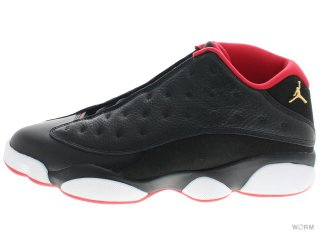 AIR JORDAN 13 RETRO LOW 310810-027 black/mtllc gld-unvrsty rd-wht