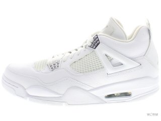 【US10.5】AIR JORDAN 4 RETRO 408202-101 white/metallic silver