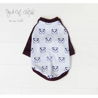 Dog&CatラグランTシャツ~Panda border~