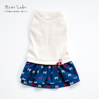 <img class='new_mark_img1' src='https://img.shop-pro.jp/img/new/icons14.gif' style='border:none;display:inline;margin:0px;padding:0px;width:auto;' />Dog ワンピース~Knit Ribbon-navy~