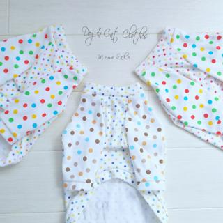 Dog&CatラグランTシャツ ~Colorful Dots~