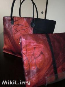 帯リメイク✿織り袋帯のおおきなトートバッグ(小物入れつき)