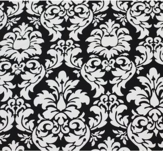 large‐patterned damask ブラック