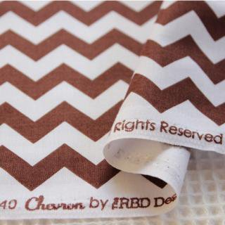 Small Chevron - Brown