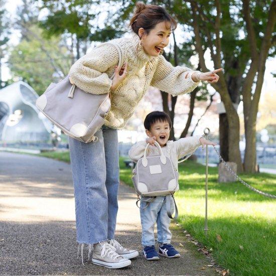 親子おそろいで使える2WAYちびバッグ/グレー
