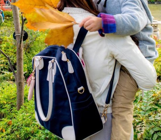 【予約販売】マザーズバッグ+ちびバッグ 親子リンクコーデセット/ネイビー【10%OFF・在庫わずか】