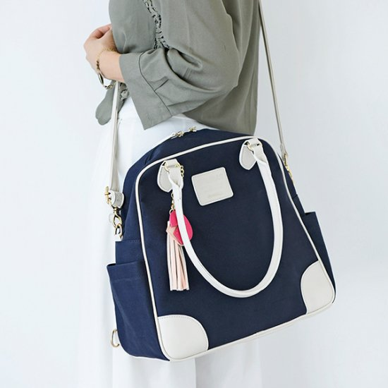 [35%OFF]マザーズバッグ+ちびバッグ 親子コーデセット/ネイビー<img class='new_mark_img2' src='https://img.shop-pro.jp/img/new/icons20.gif' style='border:none;display:inline;margin:0px;padding:0px;width:auto;' />