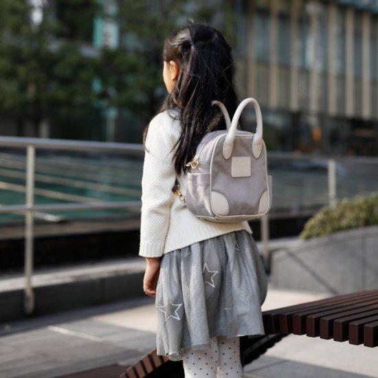 【10%OFF】マザーズバッグ+ちびバッグ 親子リンクコーデセット/グレー