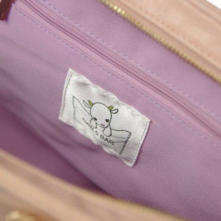 【完売】ガールズバッグ(GIRLS BAG)ミニ/ラベンダー×ピンク