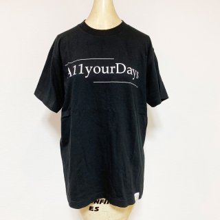 A11YOURDAYS,|1st logo-Tshirt【black】