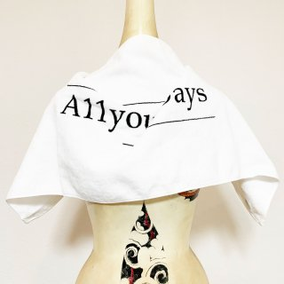 A11YOURDAYS,|1st logo-Towel【white】