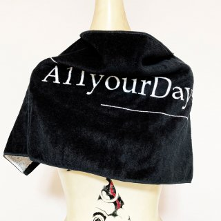 A11YOURDAYS,|1st logo-Towel【black】