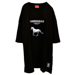 <img class='new_mark_img1' src='//img.shop-pro.jp/img/new/icons34.gif' style='border:none;display:inline;margin:0px;padding:0px;width:auto;' />MARDIGRAS|Original body Tee 「MARDIGRAS HORSE A」