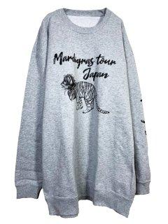 MARDIGRAS|Sweat「Tiger Rose Mardigras Tour」<Mix Gray>