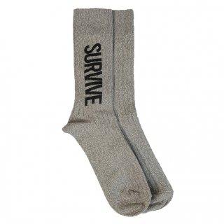 MARDIGRAS|Mens Socks 「SURVIVE」 <Gray>
