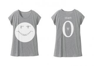 Tシャツワンピ「start¥0」グレー