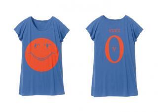Tシャツワンピ「start¥0」ブルー