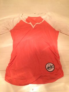 Orange-Raglan sleeve Tee【USED】Remake