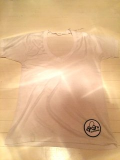 White-V neck Tee【USED】Remake