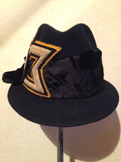 vintage Hat #1【BLACK&BLACK】