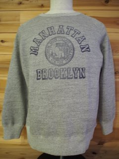 "CHESWICK チェスウィック COTTON FLEECE L/S CREW SWEAT""MANHATTAN"" hui フリース スェット"