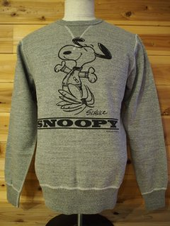 バズリクソンズ BUZZ RICKSON'S ×PEANUTS SET-IN CREW SWEAT
