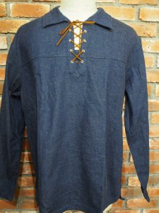 DENIM LACE UP SHIRTS